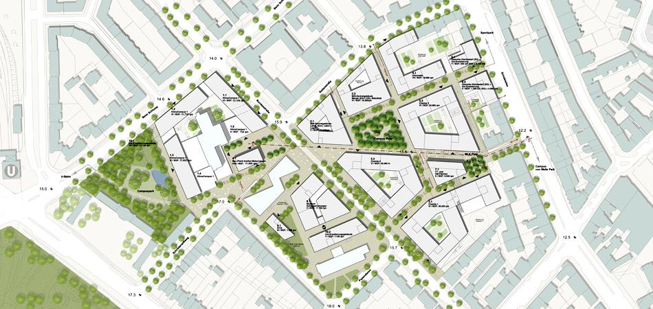 Uni Campus Hamburg städtebauliches Konzept